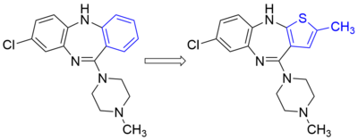A phenyl for methylthiophene bioisosteric replacement