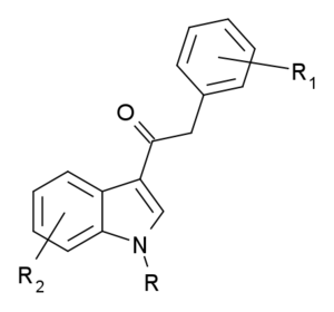 Structural scheduling of synthetic cannabinoids - Phenylacetylindoles, where R, R1 and R2 are as defined in the statute