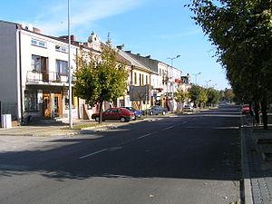 Piaski - Main thoroughfare in Piaski