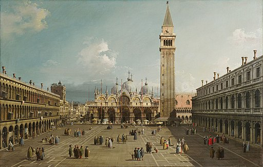 Piazza San Marco with the Basilica, by Canaletto, 1730. Fogg Art Museum, Cambridge