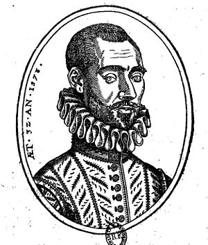 Pierre de La Primaudaye - Engraving of Pierre de la Primaudaye, dated to 1573