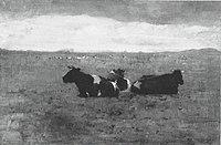 Piet Mondriaan - Landscape with three reclining cows - A372 - Piet Mondrian, catalogue raisonné.jpg