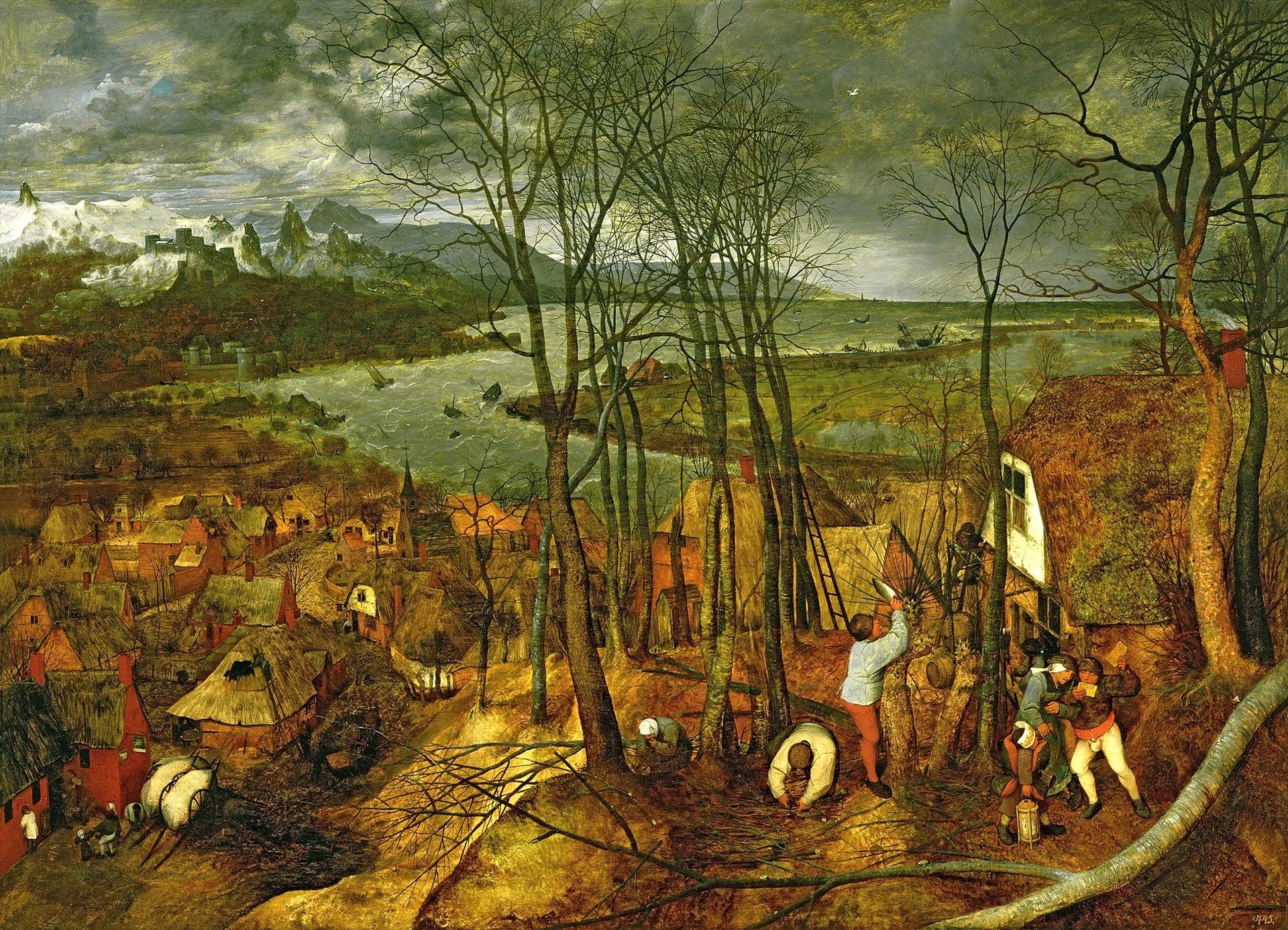 Pieter Bruegel de Oude - De sombere dag (vroege voorjaar).jpg