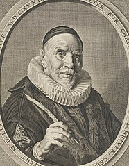 Portrait of Pieter Bor with Quill and Book