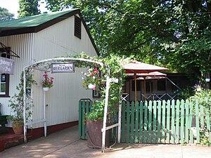 Beer garden - A beer garden in Pilgrim's Rest, South Africa