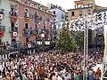 Placa Major Olot at town festival 2008.jpg