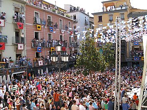 Placa Major of Olot at twon festival 2008 (07....