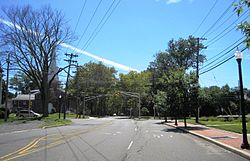 Intersection of Schalks Crossing Road / Edgemere Avenue and Plainsboro Road
