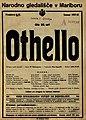 Plakat za predstavo Othello v Narodnem gledališču v Maribor 2. junija 1928.jpg