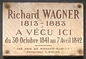 Gedenktafel im 6. Pariser Arrondissement, Rue Jacob 14 (Quelle: Wikimedia)