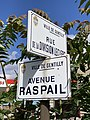 Plaques rue Division Leclerc avenue Raspail Gentilly Val Marne 2.jpg