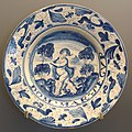 Plate with Cupid, Teruel, Spain, 18th century AD, ceramic - Museo Nacional de Artes Decorativas - Madrid, Spain - DSC08195.JPG