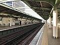 Platform of Bentencho Station (Chuo Line) 2.jpg