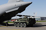 Platoon of Stryker troops, vehicles arrives in Lithuania for Saber Knight 2015 exercise 150606-A-ZI573-039.jpg