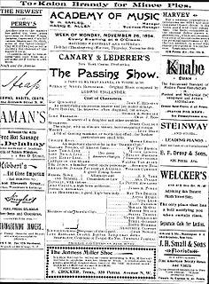 <i>The Passing Show</i> Musical revue