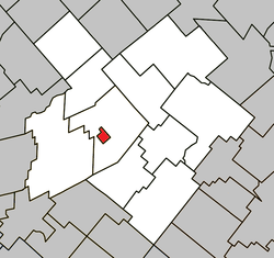 Location within L'Érable RCM.