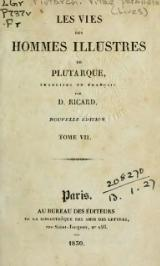 Plutarque - Vies, traduction Ricard, 1829, tome 7.djvu