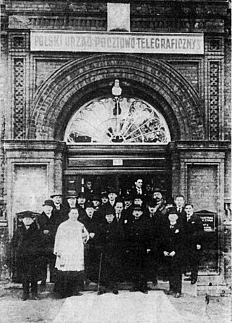 """Defence of the Polish Post Office in Danzig - The opening of the Polish Post Office """"Gdańsk 3"""" in 1925"""