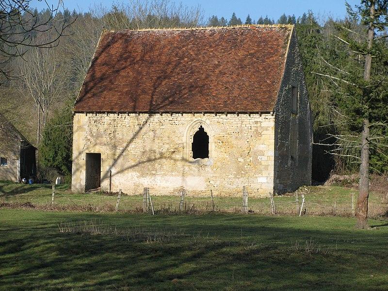 Chapelle de Poissons, à Poiseux, Nièvre, France.