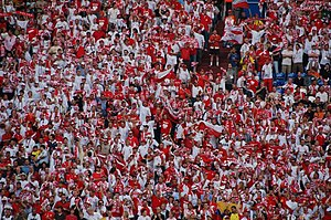 Football in Poland - Polish fans during the 2006 FIFA World Cup