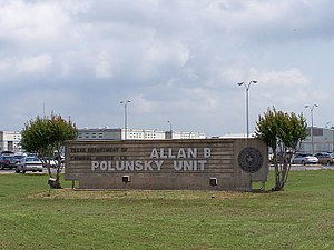Death row - Allan B. Polunsky Unit in Texas houses the male death row prisoners sentenced by the state