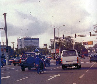 Port Harcourt - Traffic in the Port Harcourt City Centre
