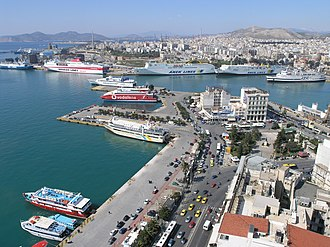 Port of Piraeus - Part of the port of Piraeus