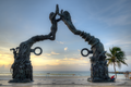 Portal Maya (El Cierre del Ciclo de la Cuenta Larga Maya) by José Arturo Tavares... in morning twilight - Playa del Carmen, Mexico - August 15, 2014 02.png