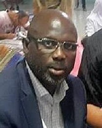 2017 Liberian general election - Image: Portrait George Weah Aiport Tunis Carthage Septembre 2016