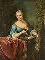 Portrait de dame tenant une corbeille de Fleurs (Raoux).jpg