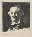 Portrait of Charles Baudelaire, Full Face, after a photograph by Nadar MET DP815237.jpg