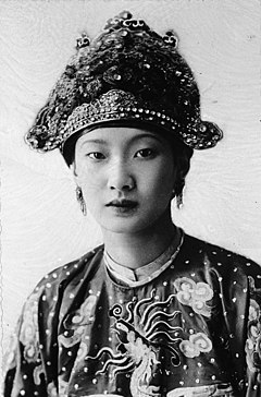 Portrait of Empress Nam Phuong during her Wedding Day, 1934.jpg