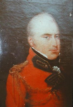 James Welsh (East India Company officer) - Portrait by Zoffany, c. 1840