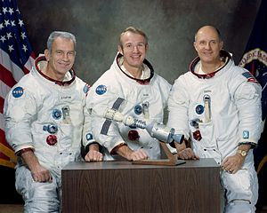 Apollo–Soyuz Test Project - Left to right: Slayton, Brand, Stafford