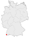 Position of Kandern in Germany.png