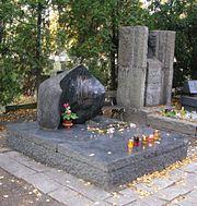 Tomb of Julian Tuwim in Powązki cemetery