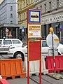 Praha, Náměstí I. P. Pavlova - označník dočasné stanice X.JPG