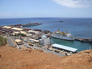 Achada Grande Tras - The Port of Praia before expansion in 2007