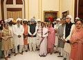 Pratibha Devisingh Patil, the Vice President, Shri Mohd. Hamid Ansari, the Prime Minister, Dr. Manmohan Singh with his wife Smt. Gursharan Kaur, the Leader of Opposition in Lok Sabha, Shri L.K. Advani and others.jpg