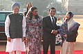 Pratibha Devisingh Patil and the Prime Minister, Dr. Manmohan Singh at the ceremonial reception of the President of the Republic of Maldives, Mr. Mohamed Nasheed and Mrs. Laila Ali at Rashtrapati Bhavan in New Delhi.jpg