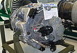 Pratt & Whitney J-48 jet engine, 1948 - Evergreen Aviation & Space Museum - McMinnville, Oregon - DSC00879.jpg