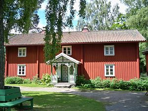Putting-out system - Förläggargården Fällhult built in 1795 in the parish of Holsljunga, Sweden; later moved to an open-air museum in Borås.