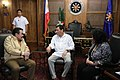 President Rodrigo Duterte meets with former President and incumbent Manila Mayor Joseph Estrada in Malacañan on September 26.jpg