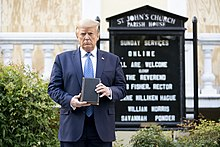 Donald Trump photo op at St. John's Church - Wikipedia