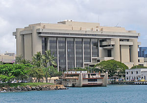 Prince Kuhio Federal Building - The building viewed near Honolulu Harbor