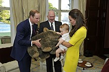 Prince William, Catherine, Prince George and Peter Cosgrove.jpg