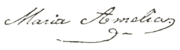 Princess maria amelia of brazil signature.png