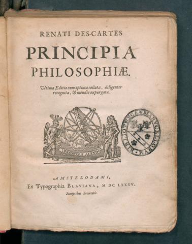 Principia philosophiae, 1685