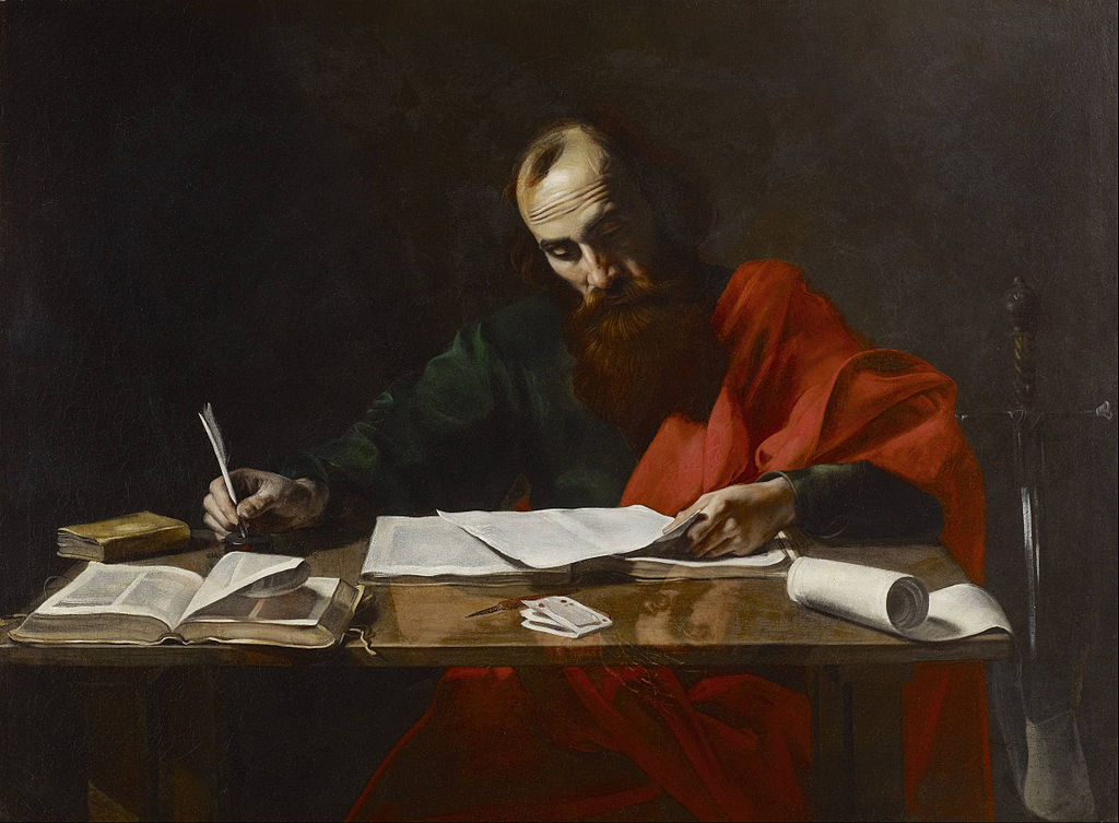 File:Probably Valentin de Boulogne - Saint Paul Writing His