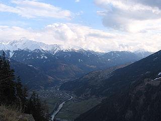 Prutz Place in Tyrol, Austria